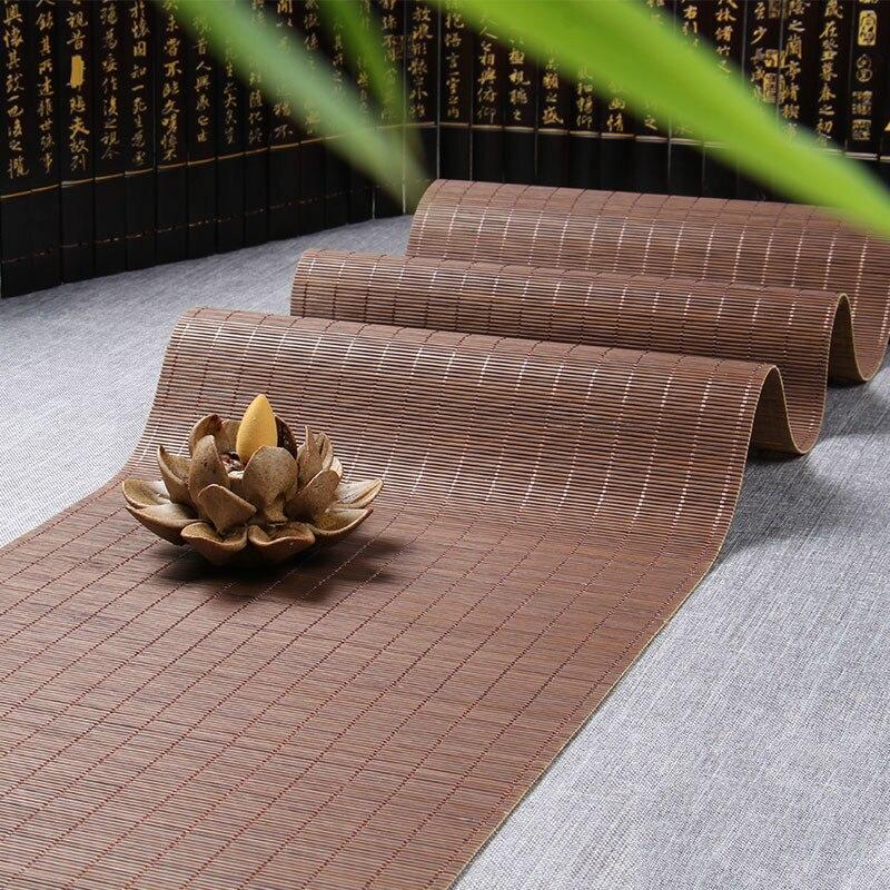 Manteles Individuales de bambú, mantel de mesa vintage, tapete para tazas de té, ceremonia, accesorios de té, almohadillas aislantes, hechos a mano totalmente naturales