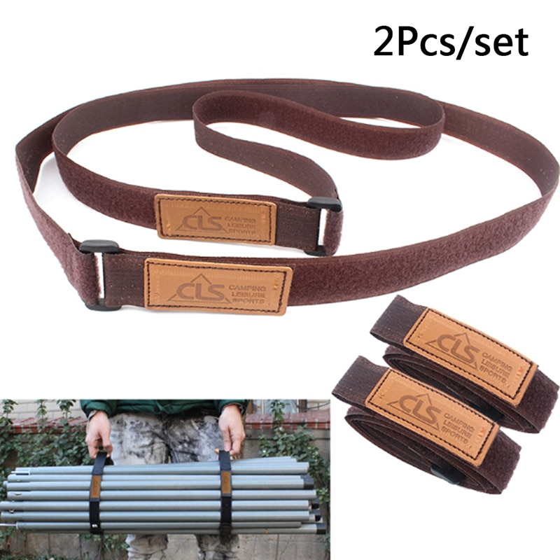 2X Adjustable Travel Luggage Suitcase Safe Durable Travel Luggage Strap Suitcase Baggage Belt Tie Outdoor Camping Hiking