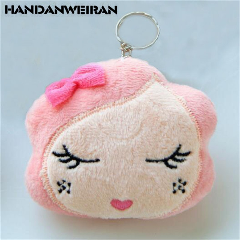 1PCS New Plush Beauty Head Toys Small Pendant Mini Cartoon Girl Heads Soft Stuffed Toy For Kids 2020