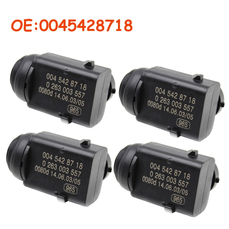 4 unids/lote 0045428718 para Mercedes-Benz W203 W209 W210 W211 W220 W163 W168 W215 W 251 S203 C203 coche aparcamiento PDC Sensor 0015427418