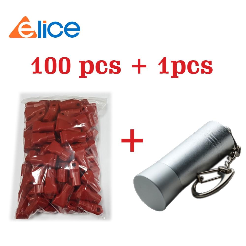 (100 + 1) шт. 4-8 мм красный Съемник безопасности с магнитной силой 5000gs и Антивор магнитные замки безопасности для модного магазина