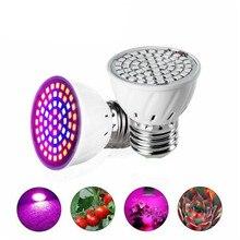 Piante Lampada LED Coltiva La Luce a Spettro Completo HA CONDOTTO Le Lampadine E27 60 led Piantina Phytolamps fitolamp Per Impianto di Illuminazione Lampade di Fiori