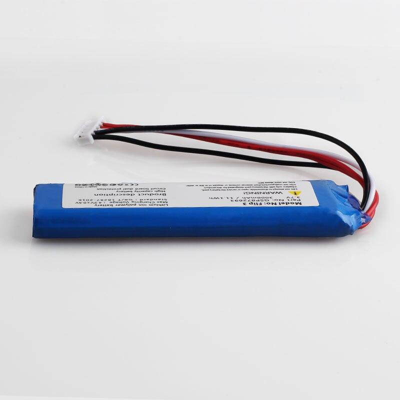 5pcs/lot 3.7V 3000mah battery for JBL Flip 3  Flip 3 GRAY GSP872693 P763098 03  + Tracking number enlarge