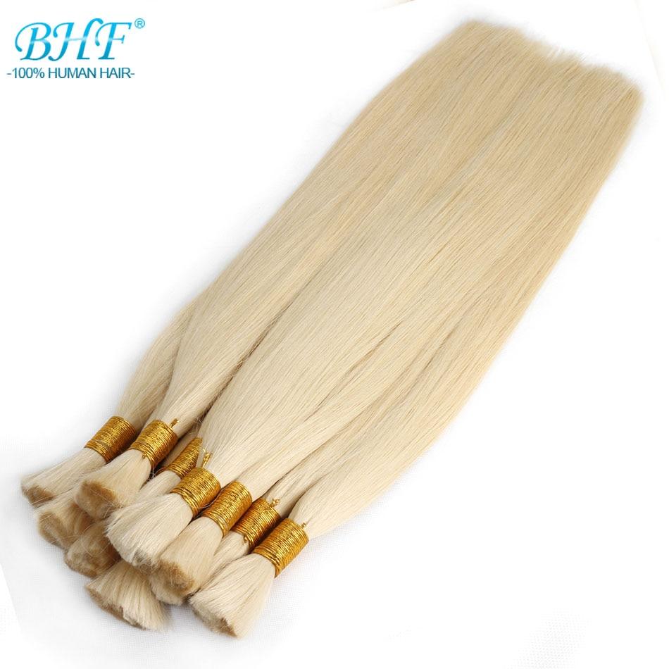 BHF 100% Human Braiding Hair Bulk Machine Made Remy Straight India Hair Bulk long length 100g Natura