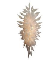 Blown Glass Chandelier Frosted White Hand Blown Murano Glass Kitchen chandelier