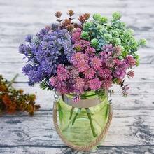 Plantes artificielles 28 têtes   Fausses feuilles de chute, plantes succulentes en plastique, plante Lotus pour jardin, décoration de mariage A5029