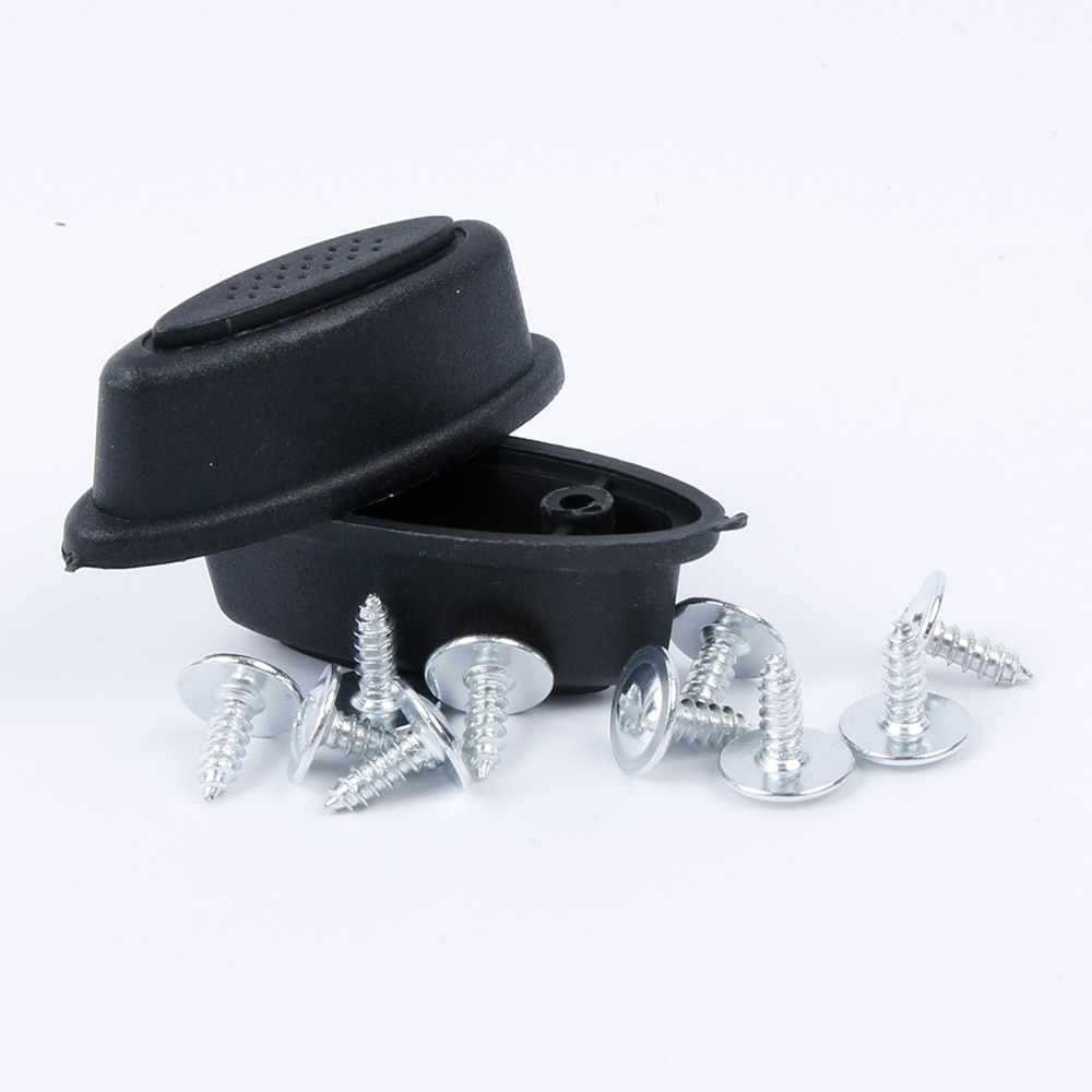 Hot Sale 2 PCS/Pair Fashion Replacement Plastic Luggage Stud Foot Feet Pad Black For Any Bags Kit