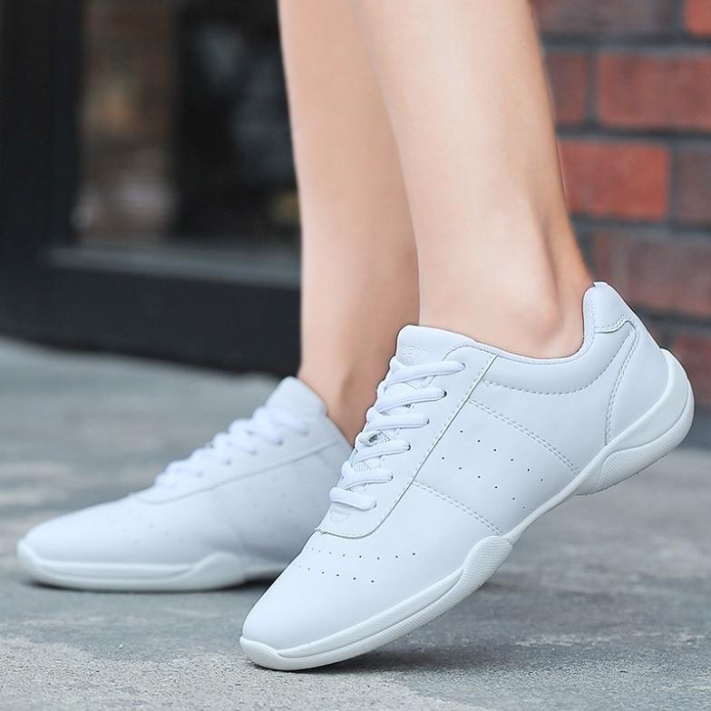 Recién llegado, zapatillas de baile para adultos, zapatillas de baile blancas de Jazz/Square, zapatos aeróbicos competitivos, zapatos de gimnasio para Fitness, tamaño 34-41