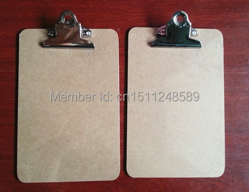 Hot sale A5 MDF clipboard writing pad menu file clip board with butterfly office supplies