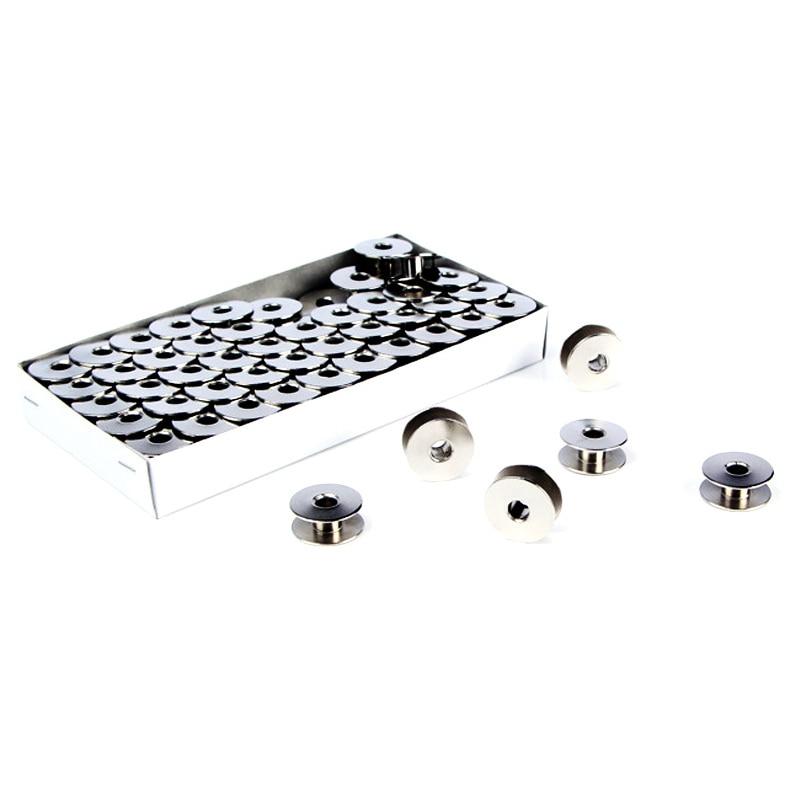 Herramientas de Máquina De Coser Industrial, accesorios de costura, carretes de Metal de núcleo de bobina de rampa, carretes de coche plano de una sola aguja Carft 10 Uds