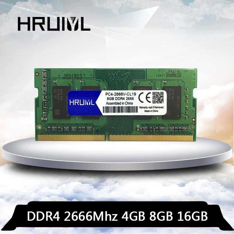 HRUIYL ddr 4 4GB 8GB 16GB ram 2666 2666V 2666mhz, memoria de ordenador portátil ddr4 PC4-2666 4G 8G 16G, memoria RAM sodimm