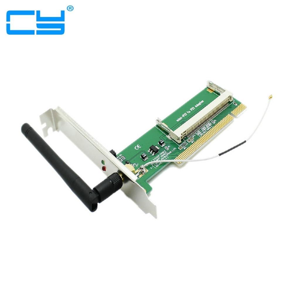 Mini PCI Wi-Fi Sem Fio Wi-Fi a/b/g tarjeta Lan para adaptador PCI Padrao antena + 1 Antena atacado com numero de rastreamento