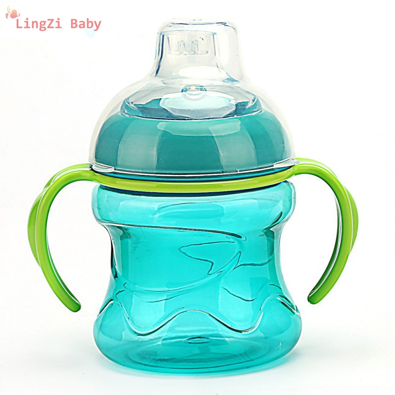 Silica Gel Feeding Bottles Cups For Babies Water Milk Bottle Infant Training With Handle Cups cups stor 82306 mug drinkware water bottle kids feeding bottles for baby