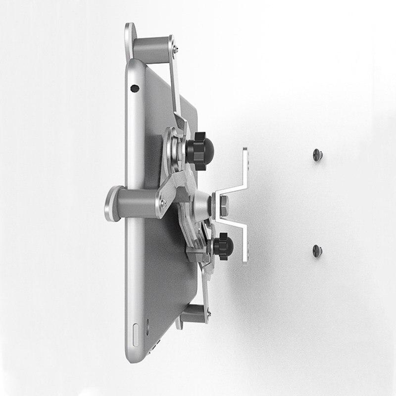 Suporte de parede para tablet, suporte de liga de alumínio para pendurar na parede com tela de 360 graus de rotação para ipad air mini 7-12 polegadas