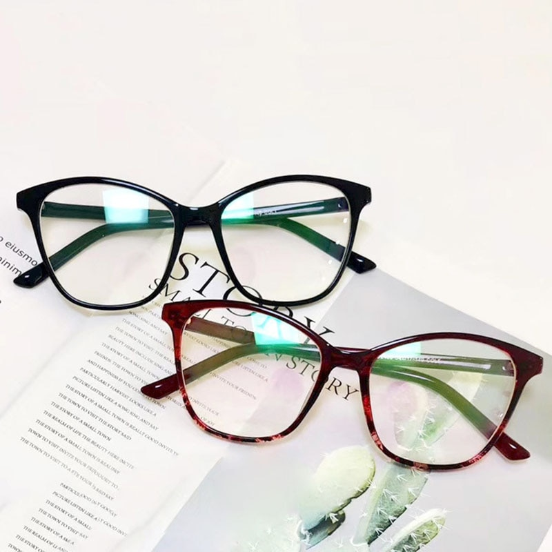 Montura grande gafas de ojo de gato gafas ópticas Retro gafas de mujer lentes transparentes hombres gafas marco moda señora Oculos