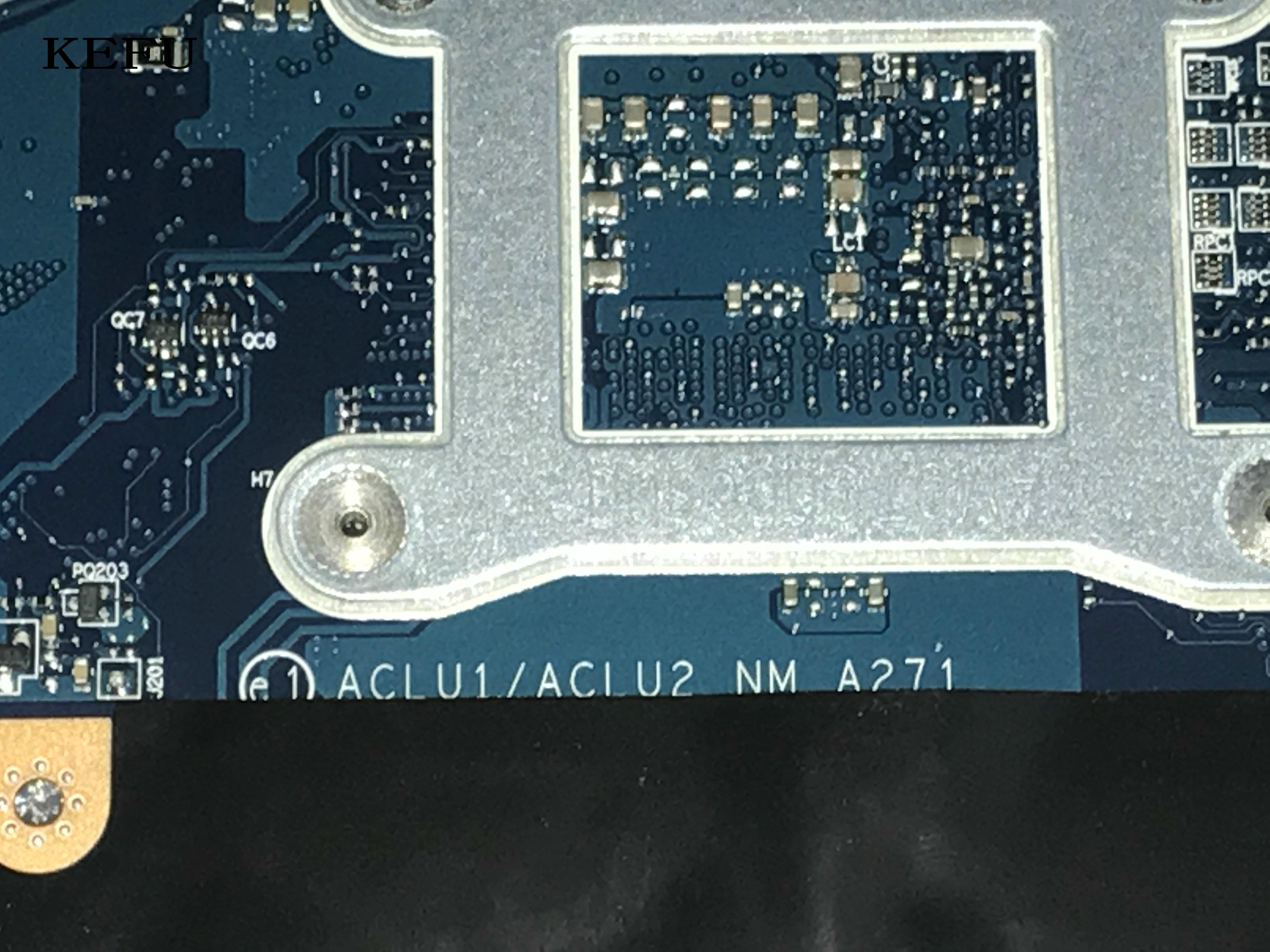 KEFU 100% nuevo, ACLU1/ ACLU2 NM-A271 placa base para portátil para LENOVO G40-70 NOTEBOOK PC, procesador a bordo 3558U + tarjeta de vídeo
