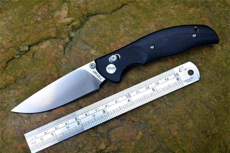 JIN02 Knife YSTART Flipper Pocket Knives D2 Folding Blade Axis System G10 handle black orange green and khaki Camping Tools