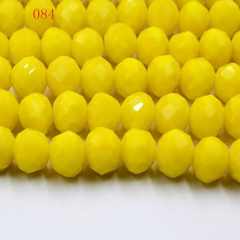 Fltmrh cor amarela 70 pçs 8mm rondelle facetado cristal jóias porcelana vidro solto espaçador grânulos profundo vermelho jóias
