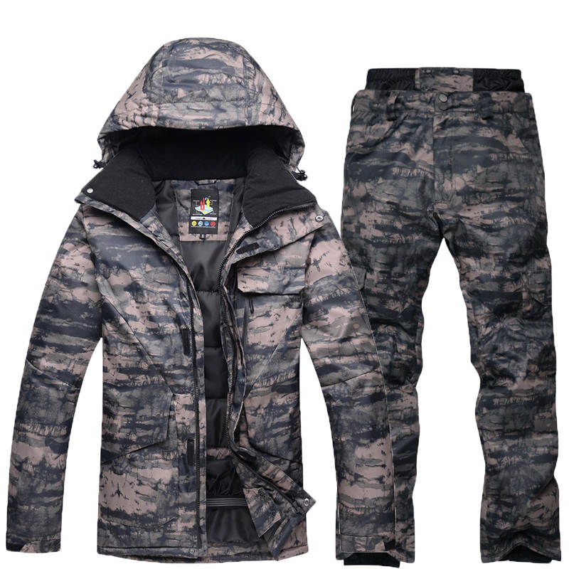 Traje de nieve de talla grande para hombre, ropa de deportes al aire libre, ropa especial de snowboard a prueba de viento, juegos impermeables, chaquetas de esquí y pantalones de nieve