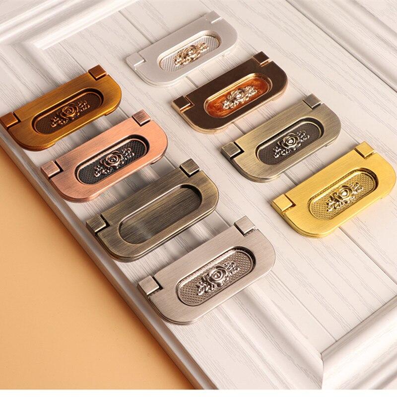 Простая установка ручки с откидной крышкой в современном европейском стиле для дверей шкафа и ящика
