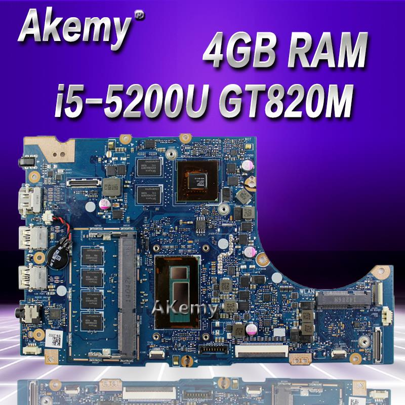 Akemy TP300LDB لوحة أم للكمبيوتر المحمول For Asus TP300LD TP300LJ TP300L اللوحة الأم 100% اختبار I5-5200U وحدة المعالجة المركزية GT820M 2GB VRAM 4GB RAM