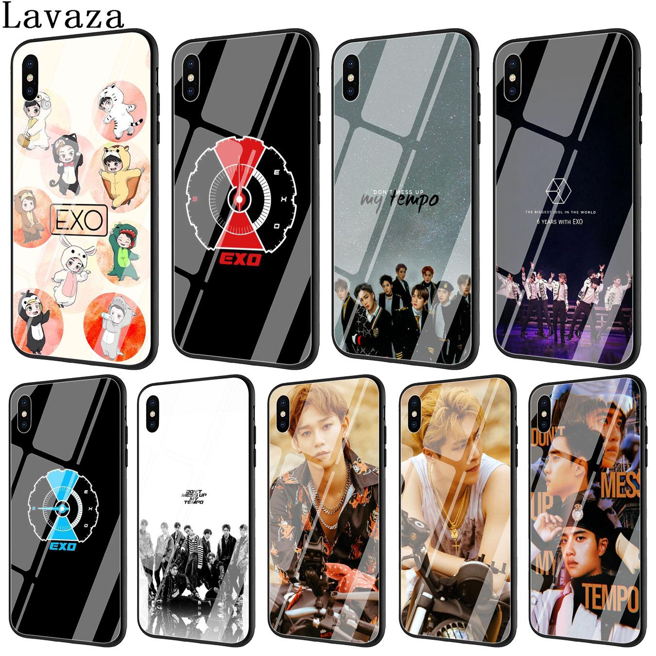 Lavaza EXO 5 no estropear mi Tempo de templado de vidrio de caso de la cubierta del teléfono para Apple iPhone XR X XS X máx. 6S 6 7 8 Plus 5 5S SE 10