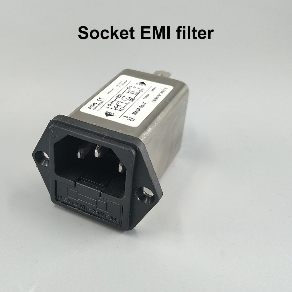 Tomada de alimentação ca do módulo da entrada do iec com filtro 6a 115v/250v do fusível emi 50hz/60hz