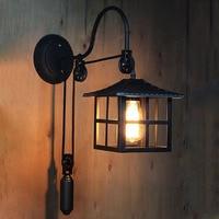 American country Loft retro iron wall lamp Restaurant Bar aisle corridor balcony