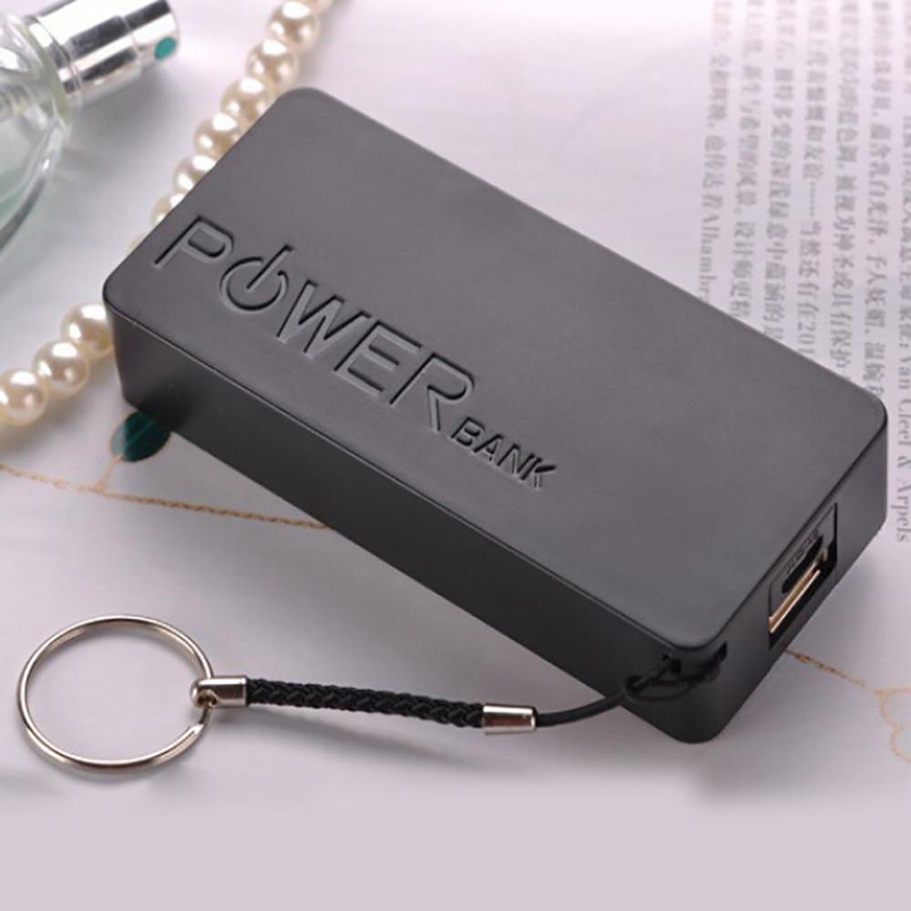 Caja DIY de Color caramelo 5600mAh 2X 18650 banco de energía USB de moda para cargador de batería para iPhone Sumsang triangulación de envíos 222