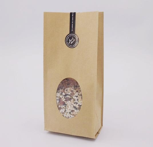 ¡Envío Gratis! 10 Uds. Acordeón de bolsillo de 10x26 cm/bolsa de fuelle con ventana bolsa de papel Kraft órgano bolso plegable bolsa de embalaje para café