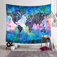 world map printed large wall tapestry cheap hippie wall hanging bohemian wall tapestries wall art decor yoga mat rug 200x150cm