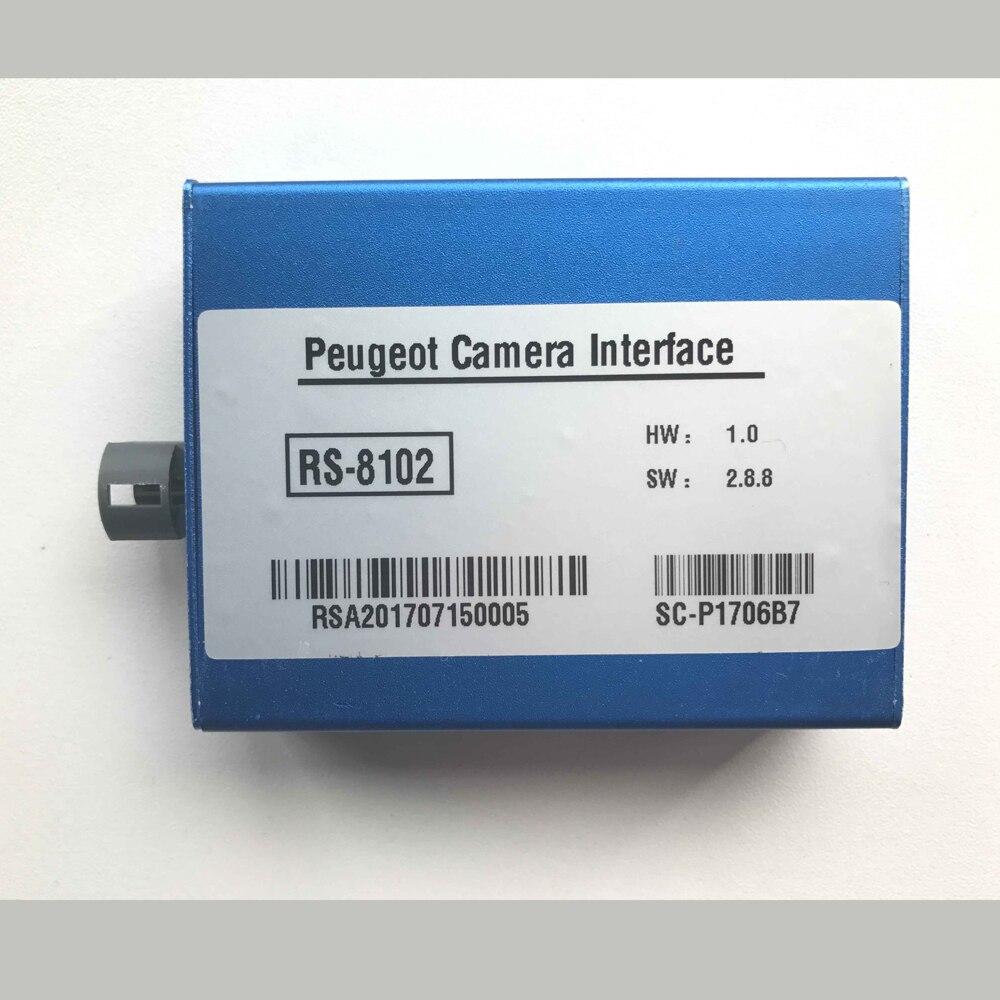 Instalación Plug And Play, cámara de visión trasera, Interfaz de vídeo InCar para accesorios Citroen C4 Cactus 2018 con guías de estacionamiento