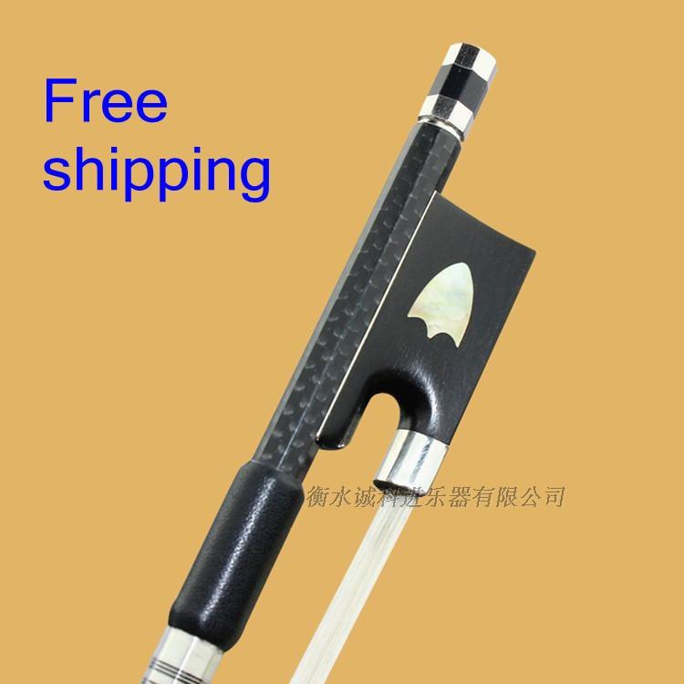 1 Pc Prefessional Carbon fiber violin bow 4/4 good balance nataul White Horsehair ebony frog titanium parts fittings accessories