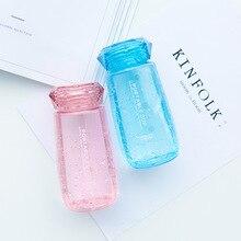 Bouteille deau couvercle de 350ml   Design diamant pour étudiants bouteille de boisson Portable mignon, mode bouteille de thé transparente pour les Sports de plein air