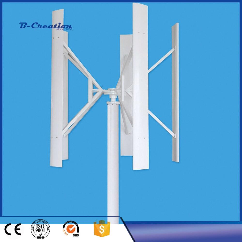 400W500W600W 12 V/24 V turbina aerogeneradora VAWT uso residencial de eje Vertical con controlador de cargador
