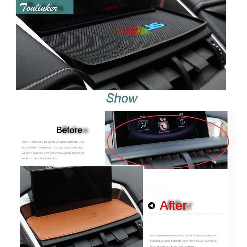 Чехол-накладка Tonlinker для Lexus ES RX NX 2016, автомобильный Стайлинг, 1 шт., силиконовая центральная консоль, навигация, анти-грязные накладки