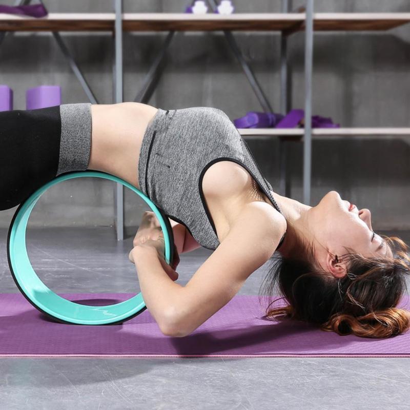 Rueda de Yoga, Pilates, círculo, TPE, Yoga, rueda de rodillo de culturismo profesional, herramienta de entrenamiento de Fitness, anillo mágico para adelgazar la forma de la cintura