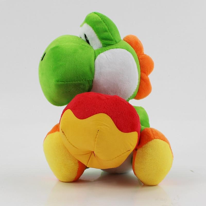 New 17cm Yoshi With Apple Plush Doll Toys Super Mario Yoshi Plush Toy Kids Birthday Christmas Gift