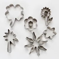 4setslotfree shipping high quality 6pcs stainless steel different flowers and leaves cookie cutters set