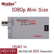 HDMI à BNC Convertisseur Portable Mini 3G HDMI VERS SDI convertisseur Adaptateur FUll HD 1080 p À BNC SD/HD-SDI/3G-SDI Multimédia HD vidéo