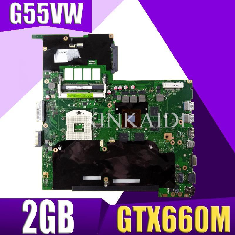 اللوحة الام للحاسوب المحمول XinKaidi G55VW GTX660M 2GB ل G55VW G55V اختبار اللوحة الام G55VW اختبار 100% ok