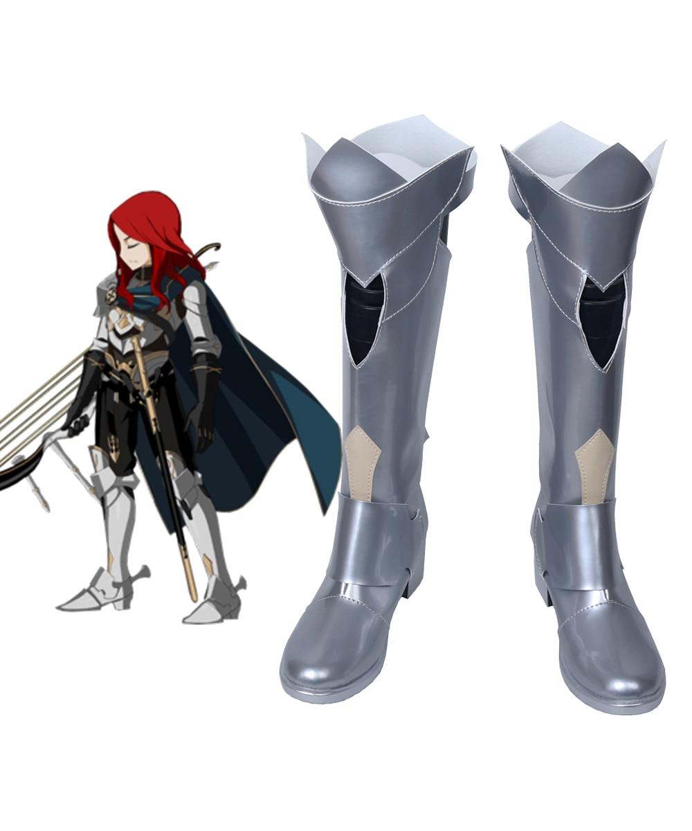 FGO Tristan Cosplay Fate Grand Order Tristan Cosplay botas zapatos de plata hechos a medida en cualquier tamaño