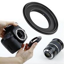 Foleto Adaptateur Dobjectif Macro bague Dinversion 49 52 55 58 62 67 72 77mm pour canon eos caméra 500d 600d 700d 5d 6d 7d 60d 70d 5d2 5d3 1d
