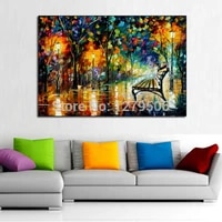 handpainted modern night beauty knife oil painting on canvas handmade thick oil painting wall picture for bedroom office decora