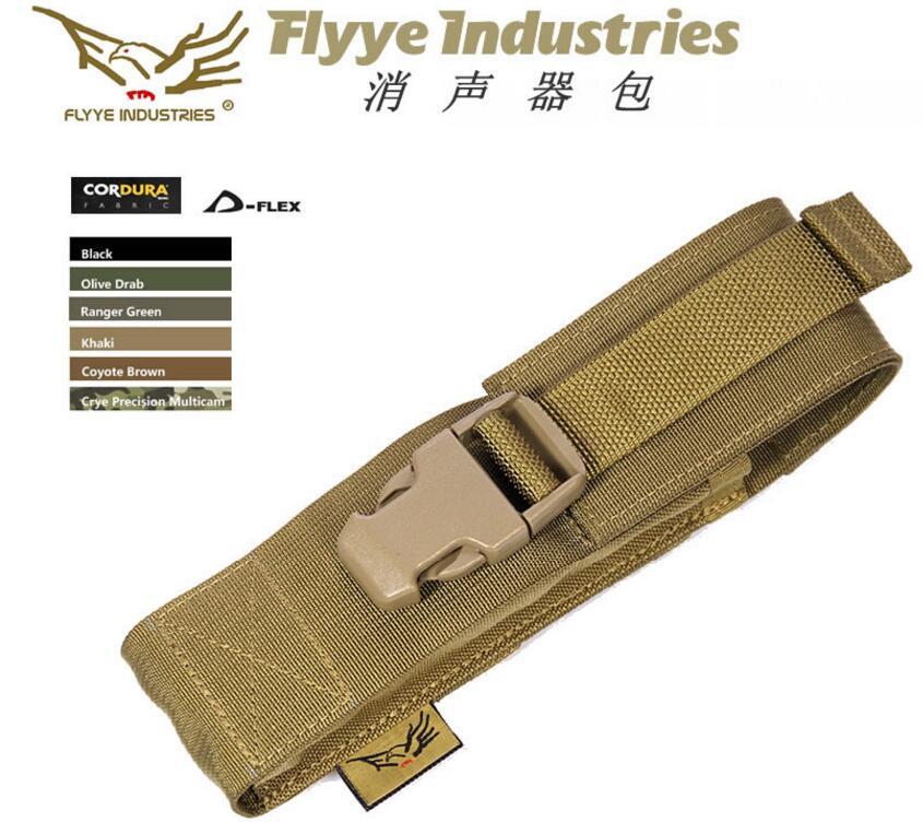 Flyye molle supressor capa silenciador bolsa titular PH-O005