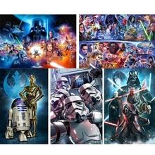 Star Wars 5D DIY Diamond painting Crystal Diamond Cross Stitch full square/round drill embroidery Mosaic Rhinestone Home decor