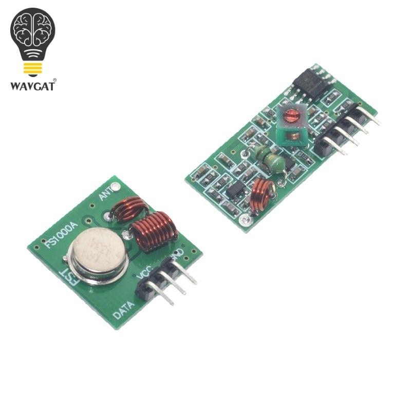 5set Smart Electronics 315Mhz RF transmitter and receiver Module link kit For arduino/ARM/MCU WL diy 315MHZ/433MHZ wireless
