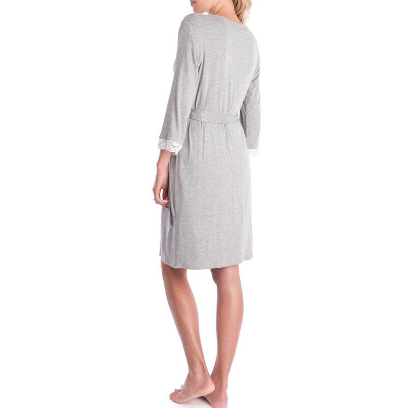 Pregnancy maternity Nightgown Maternity Pajamas Dress Lace Sleepwear Pregnant Breastfeeding Elegant Nursing Clothes Pyjama enlarge