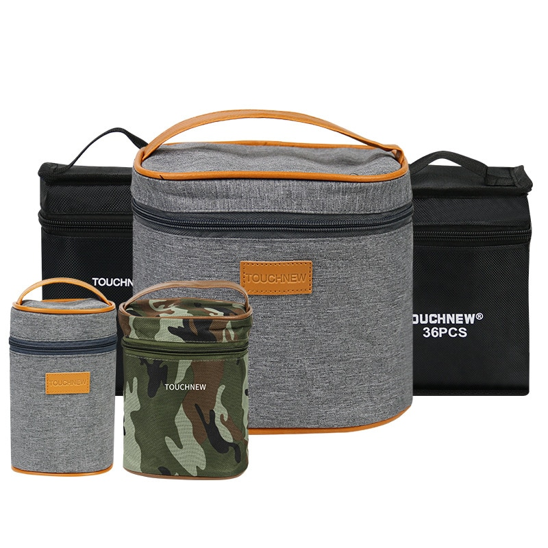 30/40/60/80/168 Colors Markers Bag Massive Capacity Zipper Folding Pencil Bag Canvas Storage Pen Cas