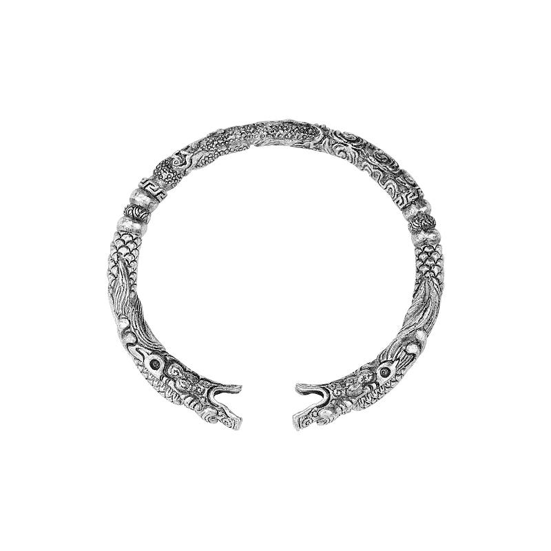 2019 Vintage abierto Fenrir Dragon Viking Pulseras brazaletes para hombres moda antigua plata Color brazalete Pulseras joyería